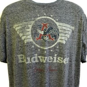 Budweiser Lager Beer Gray Graphic Tee Tshirt XL